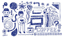 Lifestyle doodles. And decorative elements for design Royalty Free Stock Photo