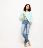 Lifestyle, fashion and people concept: fashion woman  posing in Stock Images