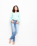 Lifestyle, fashion and people concept: Full body young  woman mo Stock Photo