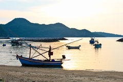 Lifestyle of fisherman local traditional village Royalty Free Stock Photo
