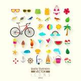 Lifestyle Flat Vector Icon Set Stock Image