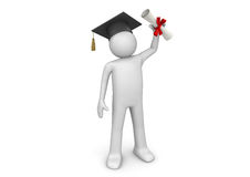 Lifestyle - Graduating student with diploma vector illustration