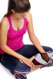 Lifestyle gym app Stock Photo