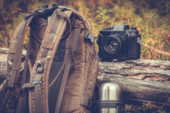 Lifestyle hiking camping equipment outdoor Stock Photography