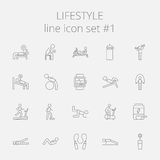 Lifestyle icon set Royalty Free Stock Photo