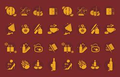 Lifestyle icons Stock Photos