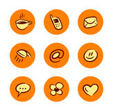 Lifestyle icons set Royalty Free Stock Image