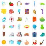 Lifestyle icons set, cartoon style. Lifestyle icons set. Cartoon style of 36 lifestyle vector icons for web isolated on white background Stock Image