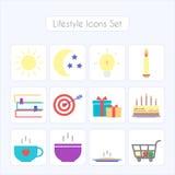 Lifestyle icons set Royalty Free Stock Photography