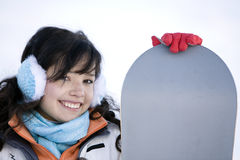 A Lifestyle image of  young adult  snowboarder Royalty Free Stock Photo