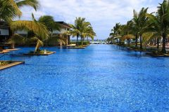 Lifestyle images of the Westin Turtal Bay Resort and Spa in Mauritius Stock Photos