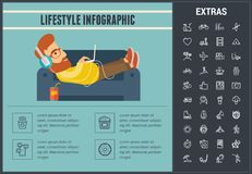 Lifestyle infographic template, elements and icons Stock Image