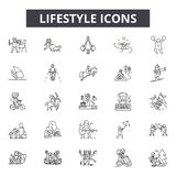 Lifestyle line icons, signs, vector set, linear concept, outline illustration vector illustration