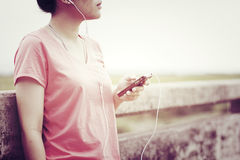 Lifestyle Listening Music Enjoying Vacation Royalty Free Stock Photos