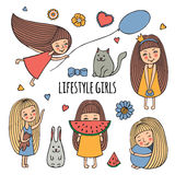 Lifestyle little girl Stock Images