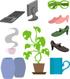 Lifestyle objects. An assortment of lifestyle related objects vector illustration