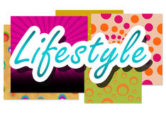 Lifestyle Over Colorful Backgrounds Stock Photo