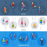 Lifestyle People Banner Set Stock Image