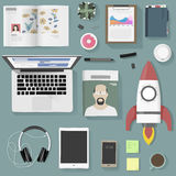 Lifestyle people gadget equipment vector illustration Royalty Free Stock Photos