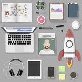 Lifestyle people gadget equipment vector illustration Concept Stock Image