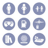 Lifestyle people icon set pictogram for presentation in  Royalty Free Stock Photography