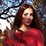 lifestyle piękna kobieta leśna obrazy stock