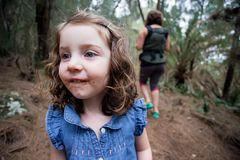Lifestyle Portrait of Three Year Old Girl Stock Photo