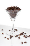 Lifestyle shot of martini glass with coffee XXL Stock Photo