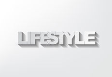 Lifestyle symbol. On a grey background and shadow Royalty Free Stock Photography