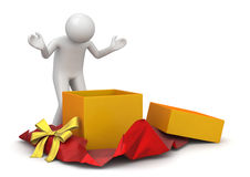 Lifestyle - Unwrapping present Royalty Free Stock Photos