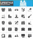 Lifestyle vector icons set, modern solid symbol collection Royalty Free Stock Photos