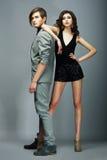 Lifestyle. Well-dressed Couple Fashion Models. Stylishness Royalty Free Stock Images