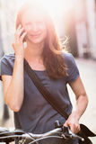 Lifestyle - Woman on a Mobile Phone Royalty Free Stock Image