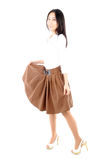 Lifestyle of woman wearing a skirt Royalty Free Stock Photography