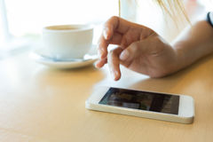 Lifestyle of women using a mobile phone Royalty Free Stock Image