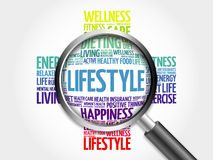 Lifestyle word cloud Stock Images
