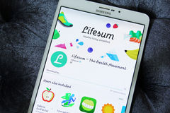 Lifesum APP Photos stock