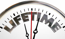 Lifetime Clock Experience Living Span Word Stock Photography