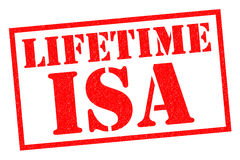 LIFETIME ISA. Red Rubber Stamp over a white background Stock Image