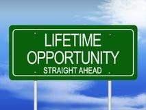 Lifetime Opportunity Stock Photo