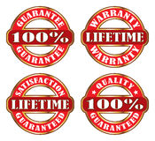 Lifetime Satisfaction Guarantee Warranty Royalty Free Stock Photos