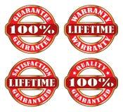 Lifetime Satisfaction Guarantee Warranty Royalty Free Stock Photos