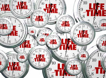 Lifetime Span Live Expectancy Clocks Flying. 3d Illustration vector illustration