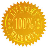 Lifetime warranty. Seal isolated over white Stock Illustration
