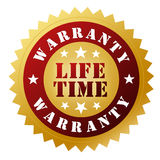 Lifetime warranty badge Royalty Free Stock Images