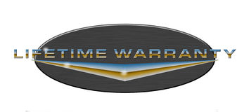 Lifetime Warranty Button Royalty Free Stock Photography