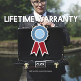 Lifetime Warranty Excellence Performance Product Concept.  Stock Image