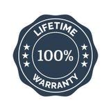 Lifetime warranty flat badge. On white background. Vector illustration Stock Photos