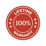Lifetime warranty flat badge. On white background. Vector illustration Royalty Free Stock Photography