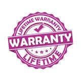 Lifetime warranty - grunge stamp also for print Vector Illustration